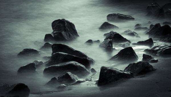 Stenen in water