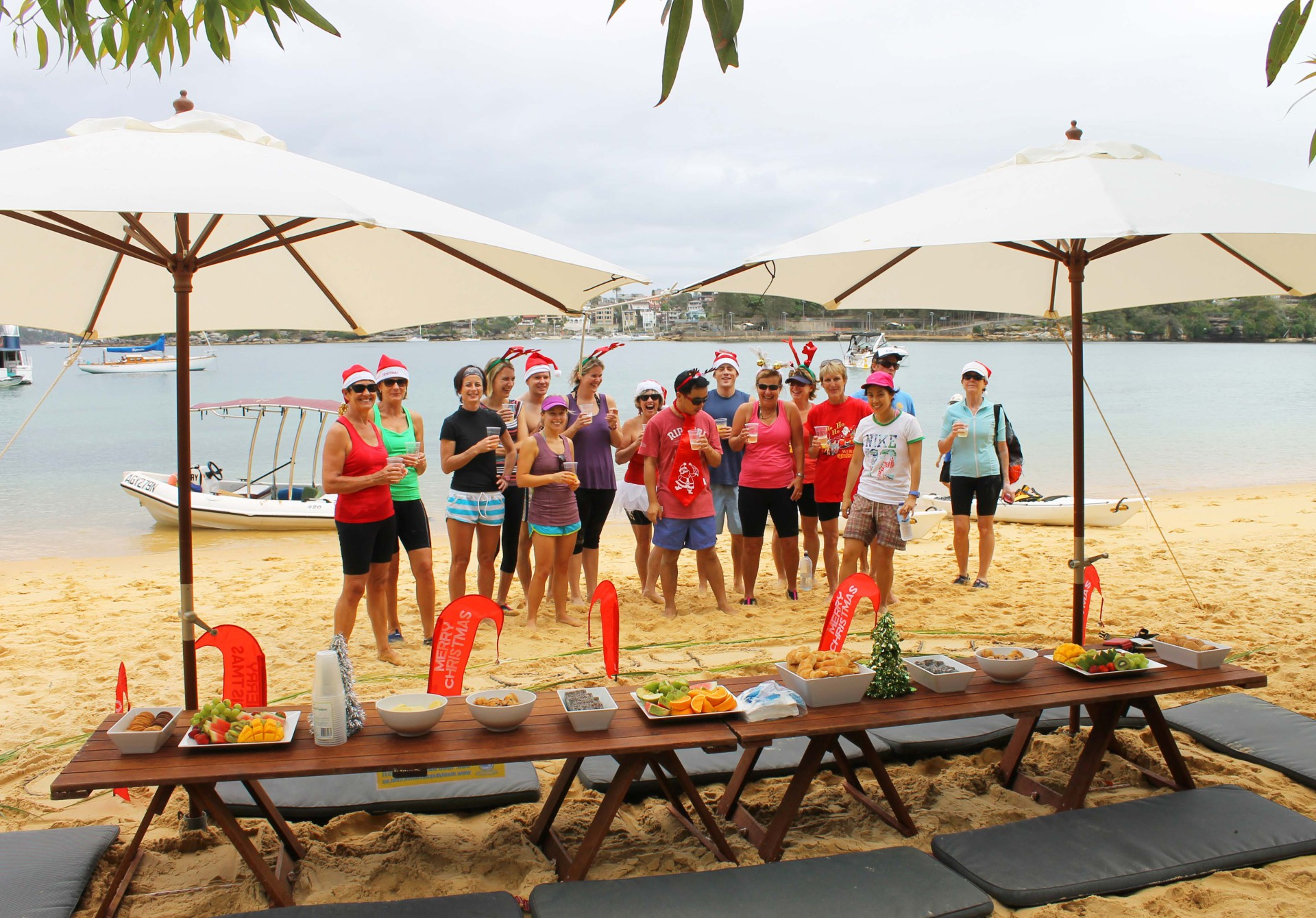 Corporate Christmas Beach Picnic, Manly
