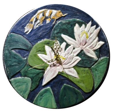 Among the Lilies Clock  $155