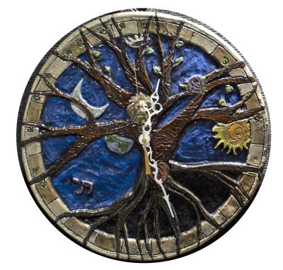 Tree of Life Wall Clock $155