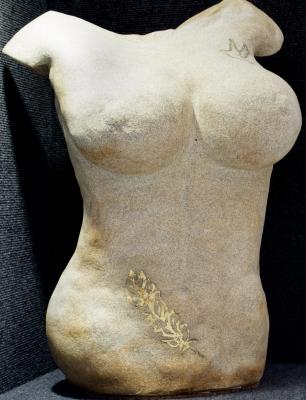 Tattoo'd Nude w/24K Gold $2200