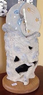 Moon Sculpture with Pendulum $175