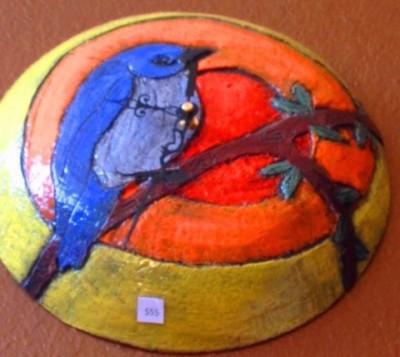Blue Bird in the sun $105