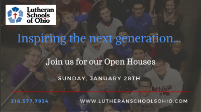 All Schools Open Houses Sunday, January 28th