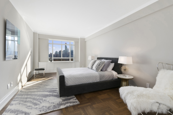 Master Bedroom with direct views of Central Park