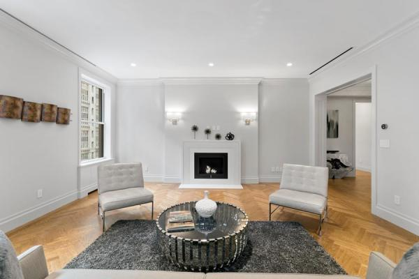 Living Area with working fireplace