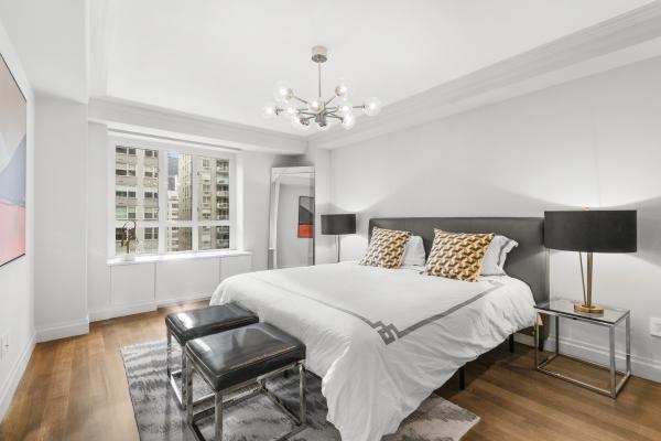 Master Bedroom with 2 custom closets