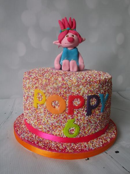 Trolls 100s & 1000s Birthday Cake
