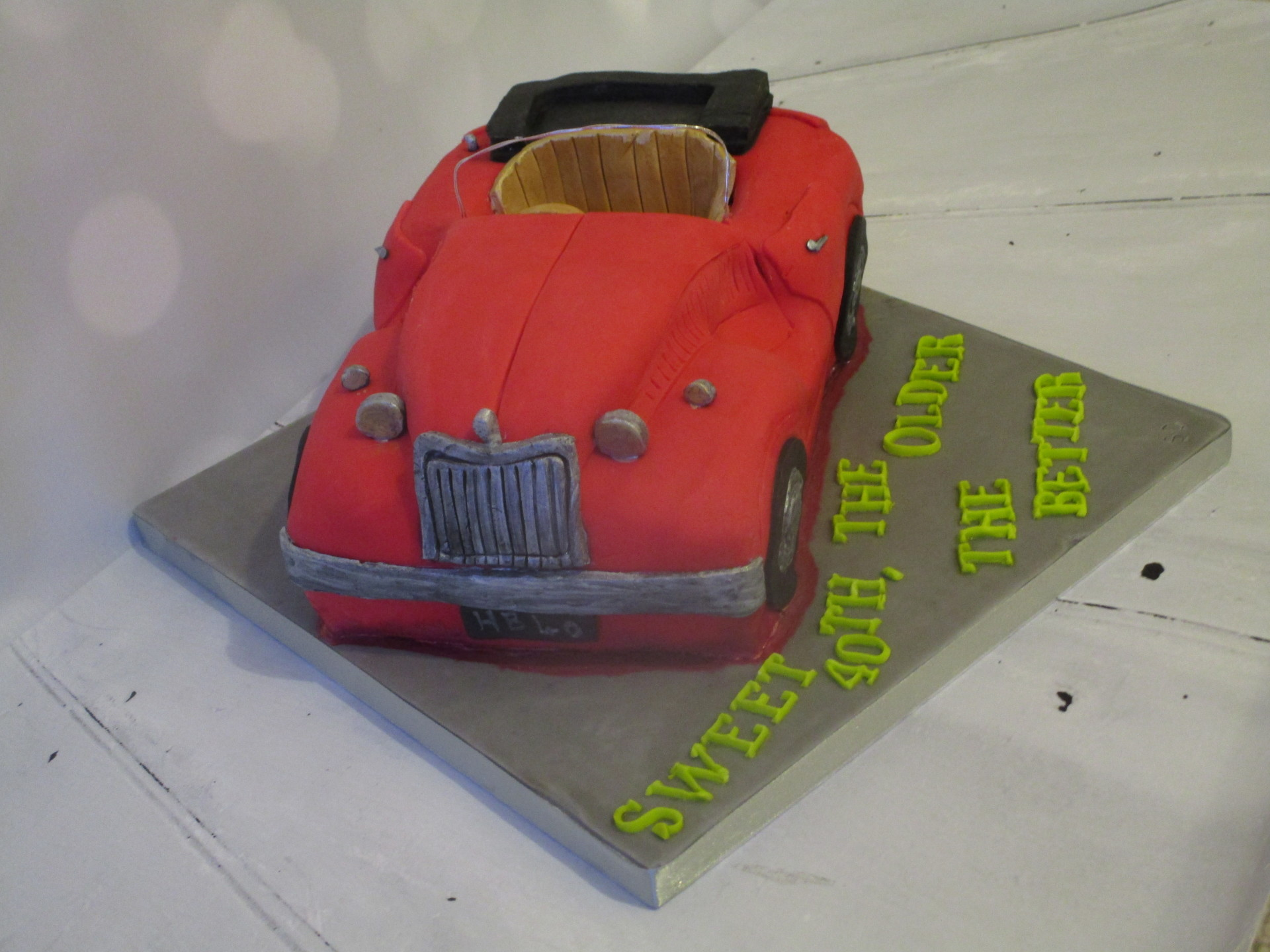 Carved Vintage Car Birthday Cake