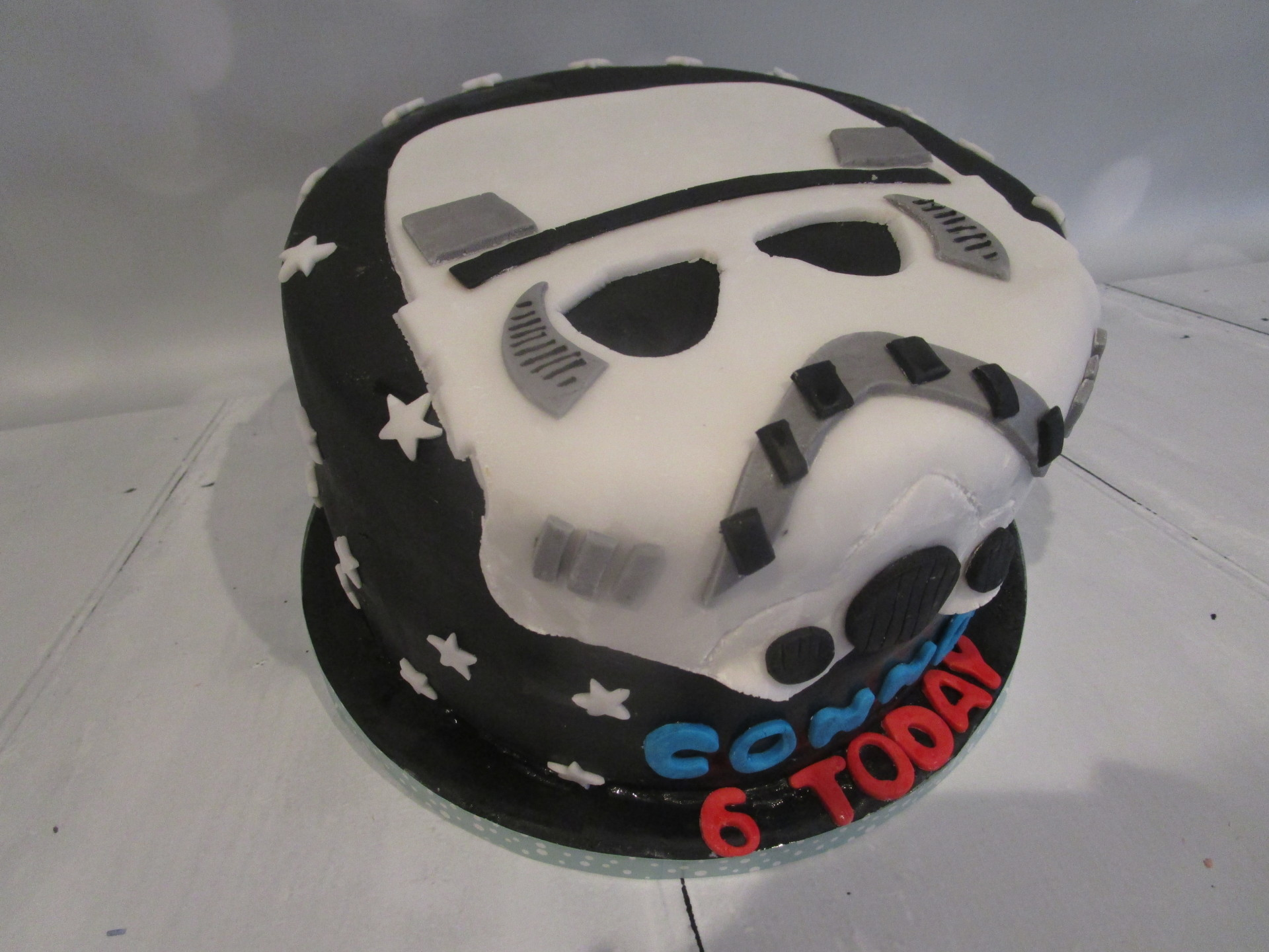 Storm Trooper Mask Birthday Cake