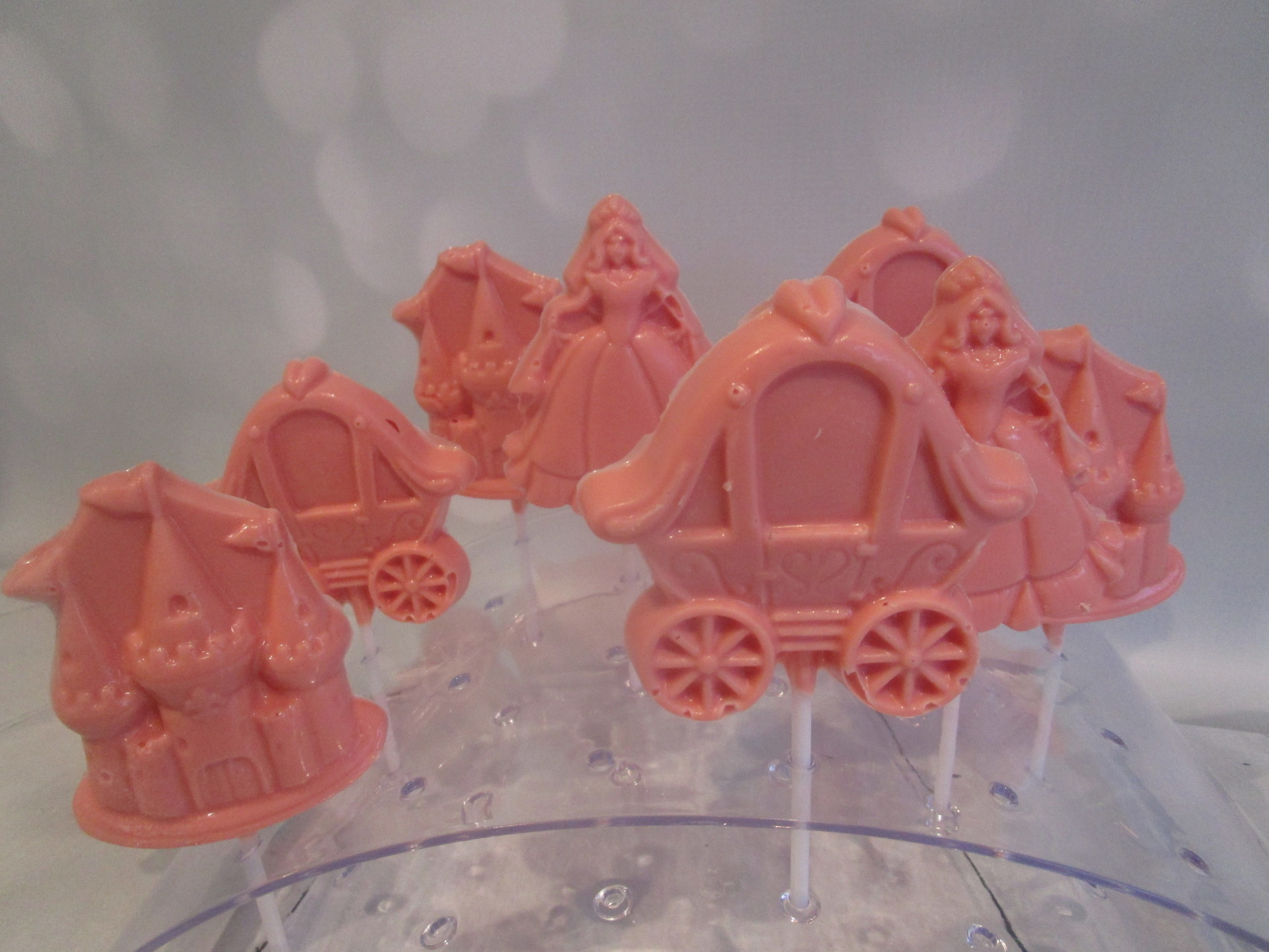 Hand Crafted Princess Themed Candy Lollipops (3 Designs)