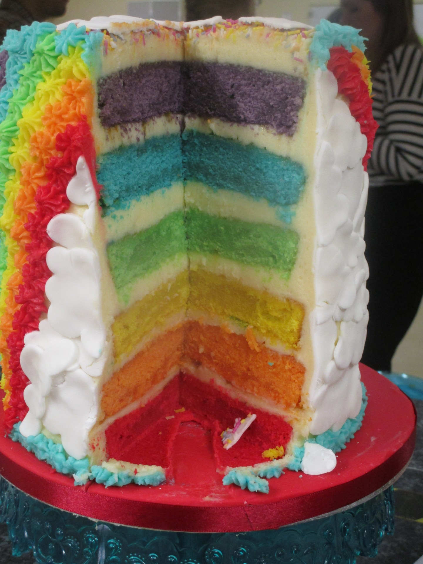 Inside Image of Latest Rainbow Cake
