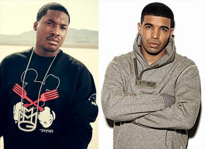 Meek Mill (left) and Drake (right)