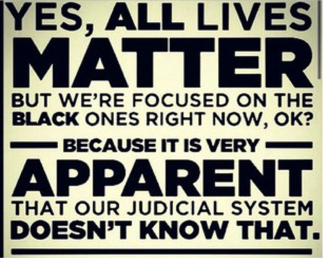 Why #AllLivesMatter achieves nothing