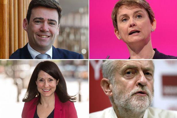 Burnham, Cooper, Kendall and Corbyn (Via The Mirror)