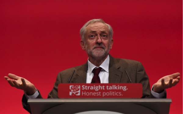 Jezza doing conference things (Image via The Huffington Post)