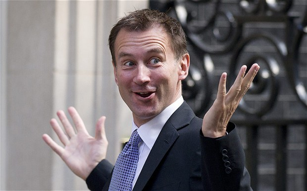 Jeremy Hunt looking rather clueless (image via: www.thetelegraph.co.uk)