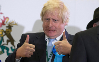 Boris being Boris (image via The Telegraph)
