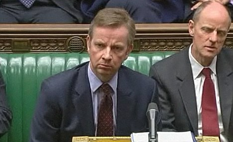 A perplexed looking Michael Gove (image via The Daily Mail)