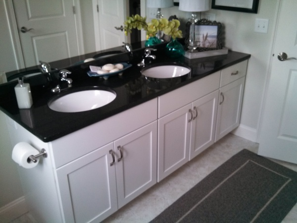 White Thermofoil Vanity