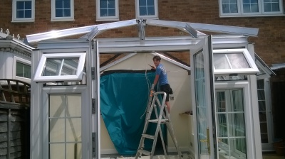 in progress Conservatory repair