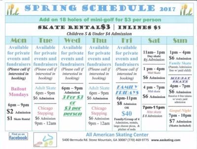 Spring 2017 Schedule