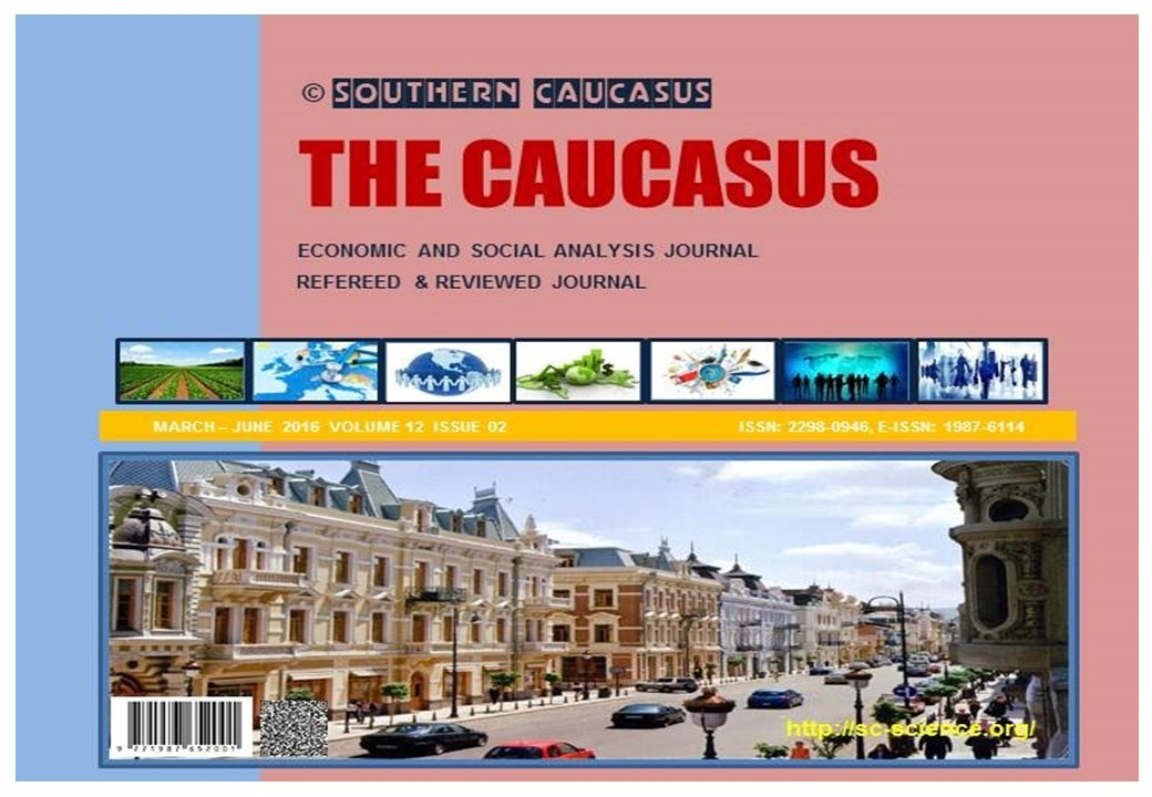 THE CAUCASUS  SOUTHERN CAUCASUS SCIENTIFIC JOURNAL OF ACADEMIC RESEARCH