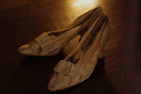 Delmira Agustini's wedding shoes, 1900s