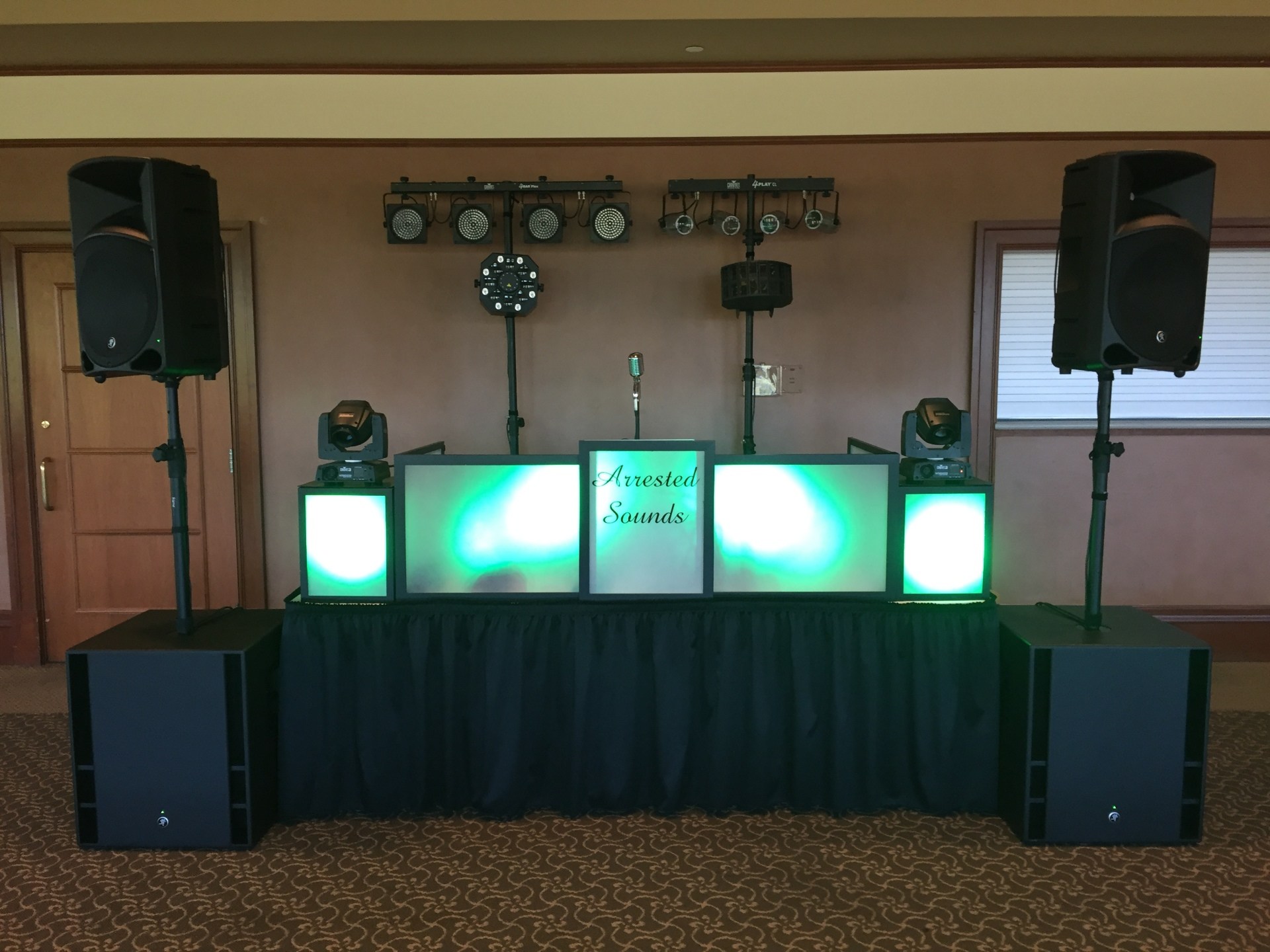 Arrested Sounds Wedding DJ, Sand Creek Country Club, Chesterton, Uplighting,