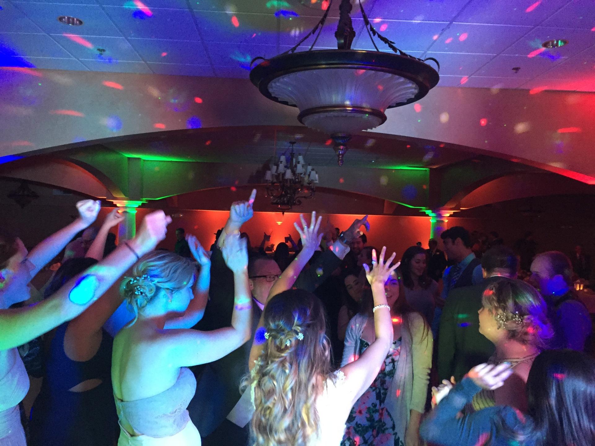 Trinity Hall St. Patricks Church, Chesterton Up lighting, Arrested Sounds Wedding DJ