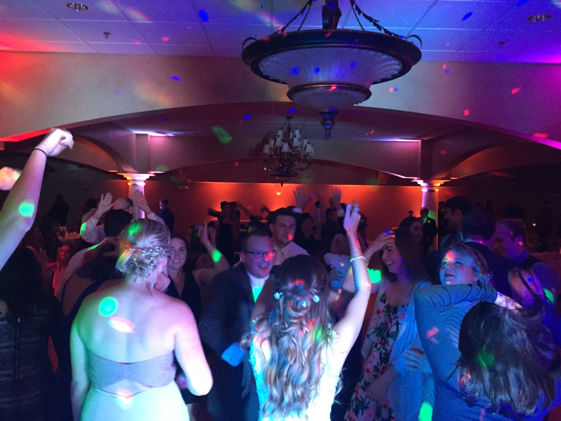 Trinity Hall St. Patricks Church, Chesterton Up lighting, Arrested Sounds Wedding DJ