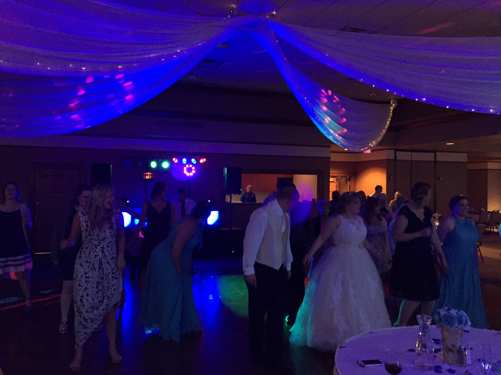Sand Creek Country Club, Up lighting, Arrested Sounds Wedding DJ