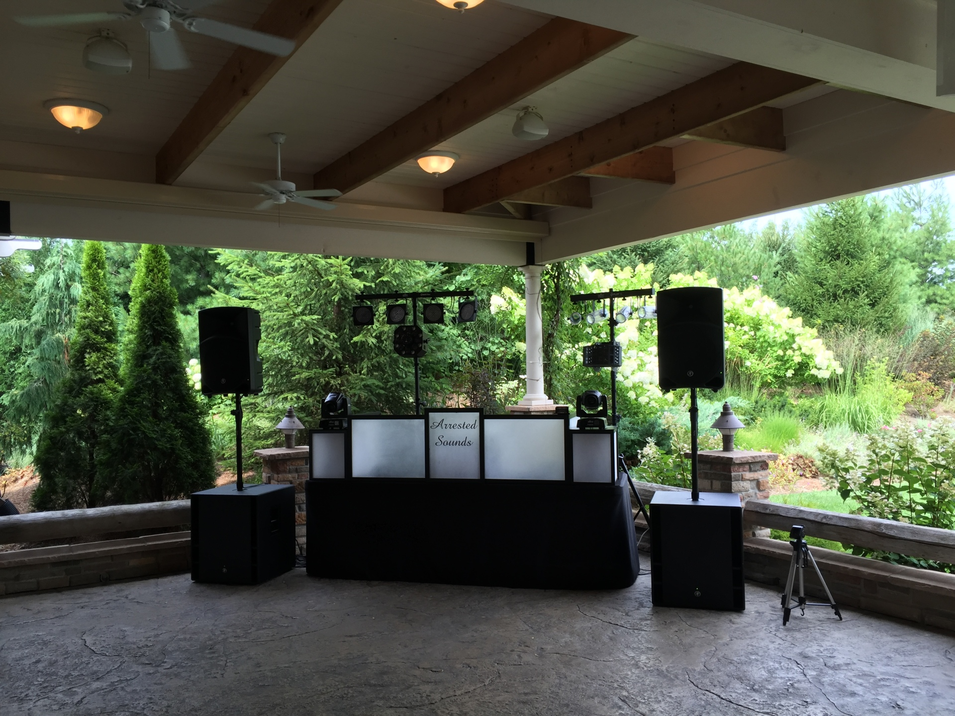 The Pavilion at Sandy Pines Golf Course Demotte Wedding DJ Arrested Sounds