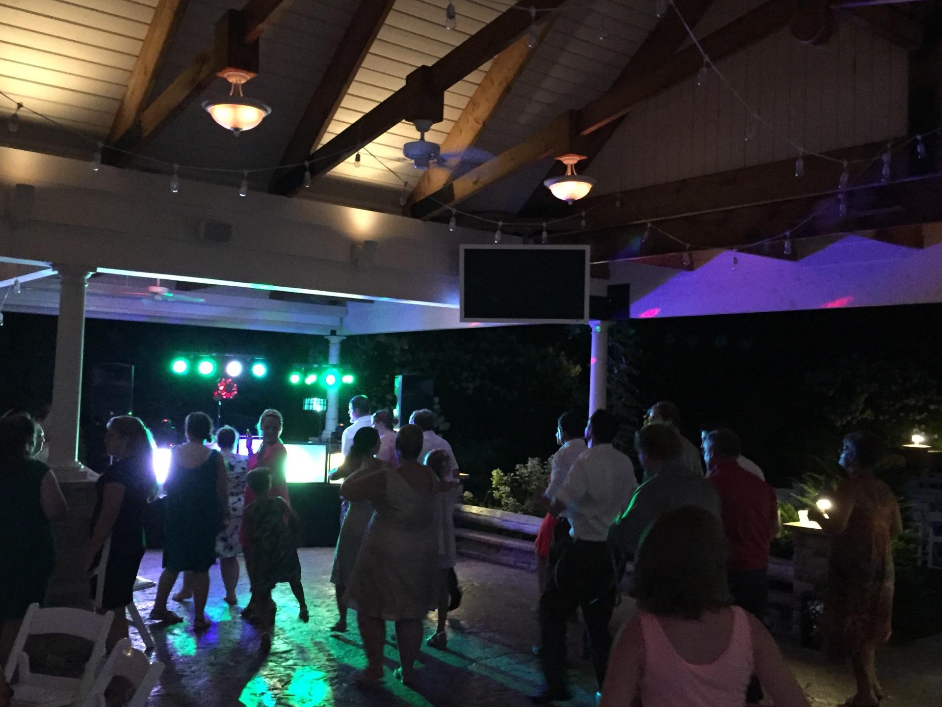 The Pavilion at Sandy Pines Golf Course Demotte Wedding DJ Arrested Sounds