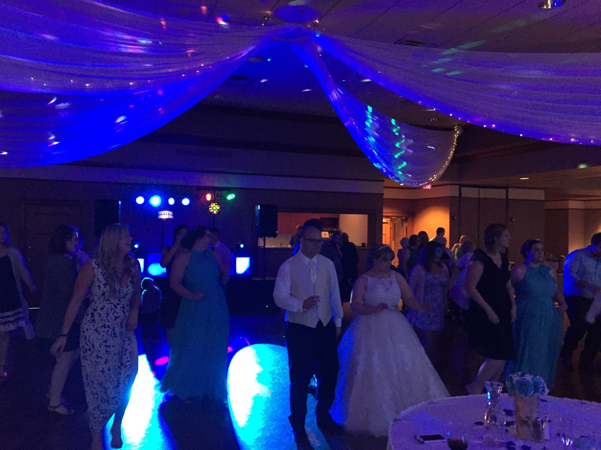 Sand Creek Country Club, Up lighting, Arrested Sounds Wedding DJ Chesterton
