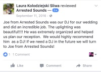The Silver Palace La Porte Wedding DJ Arrested Sounds Review