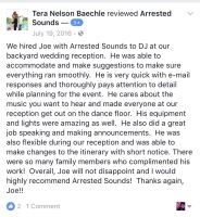 Outdoor Wedding DJ Arrested Sounds Review