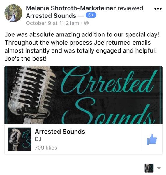 Arrested Sounds Wedding DJ, Chesterton, Valparaiso, Portage, Michigan City, Laporte