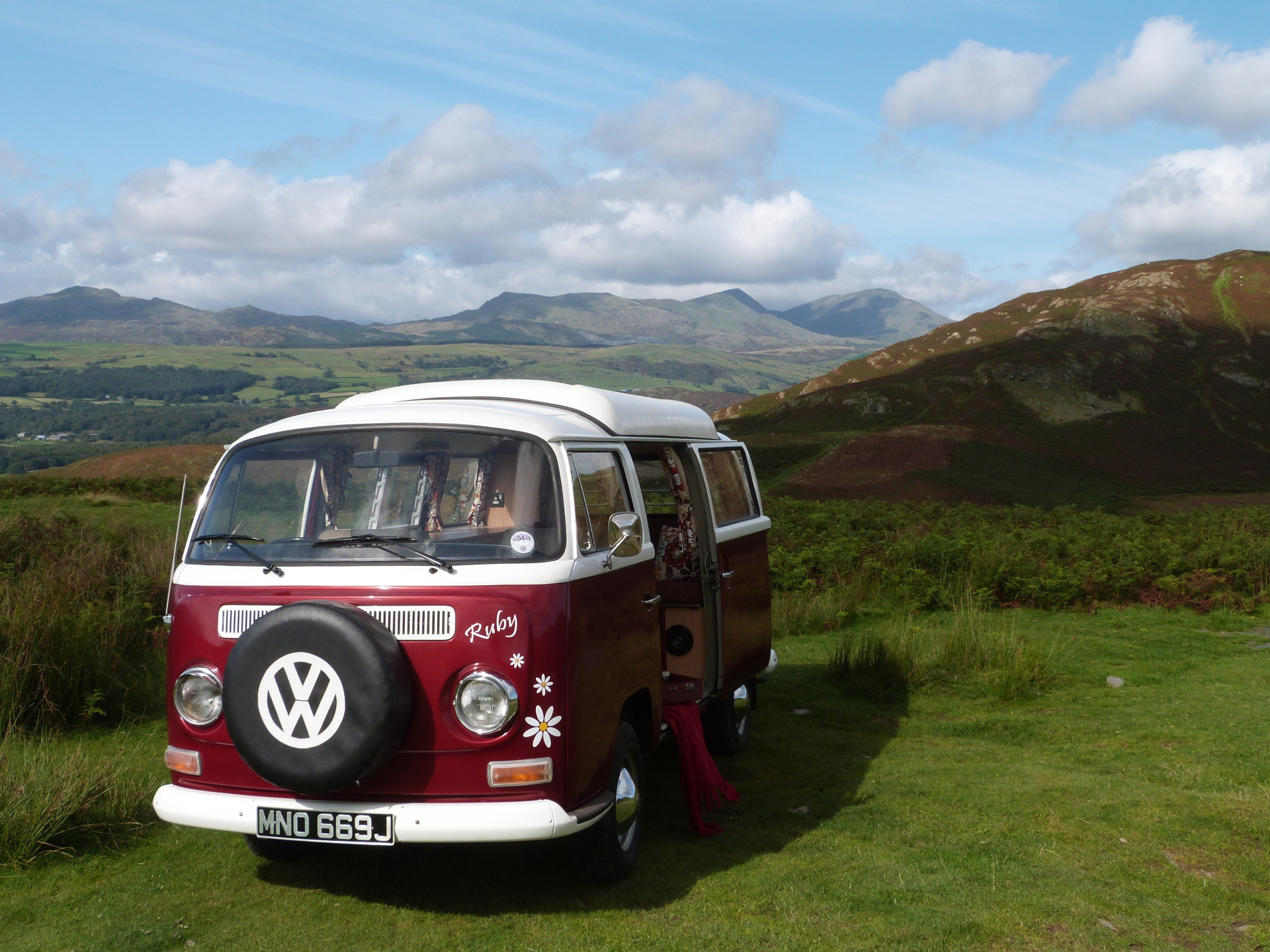 tour the lakes in a vw camper hired from pomona.