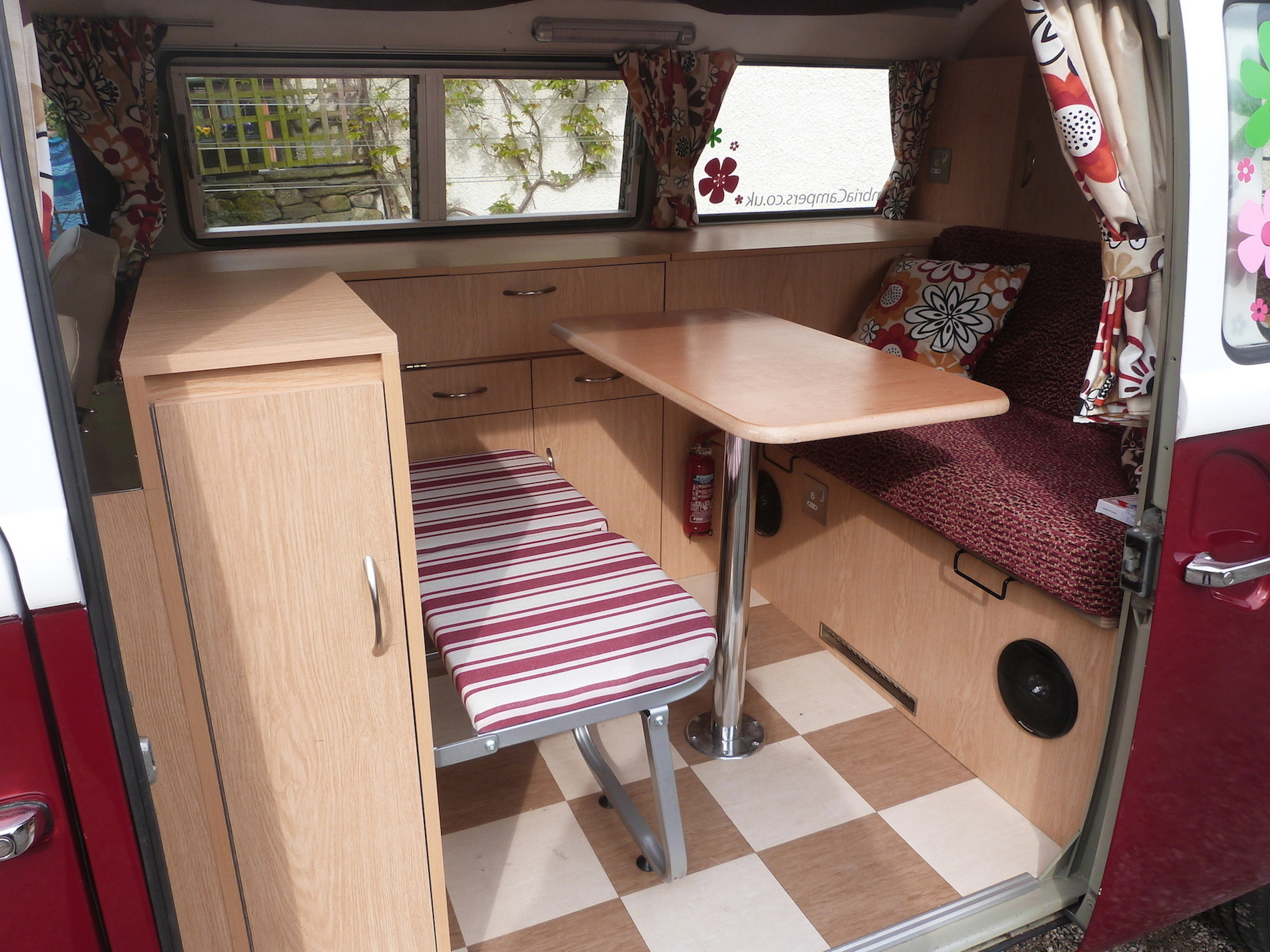 hire a vw camper from pomona, fully fitted interior.