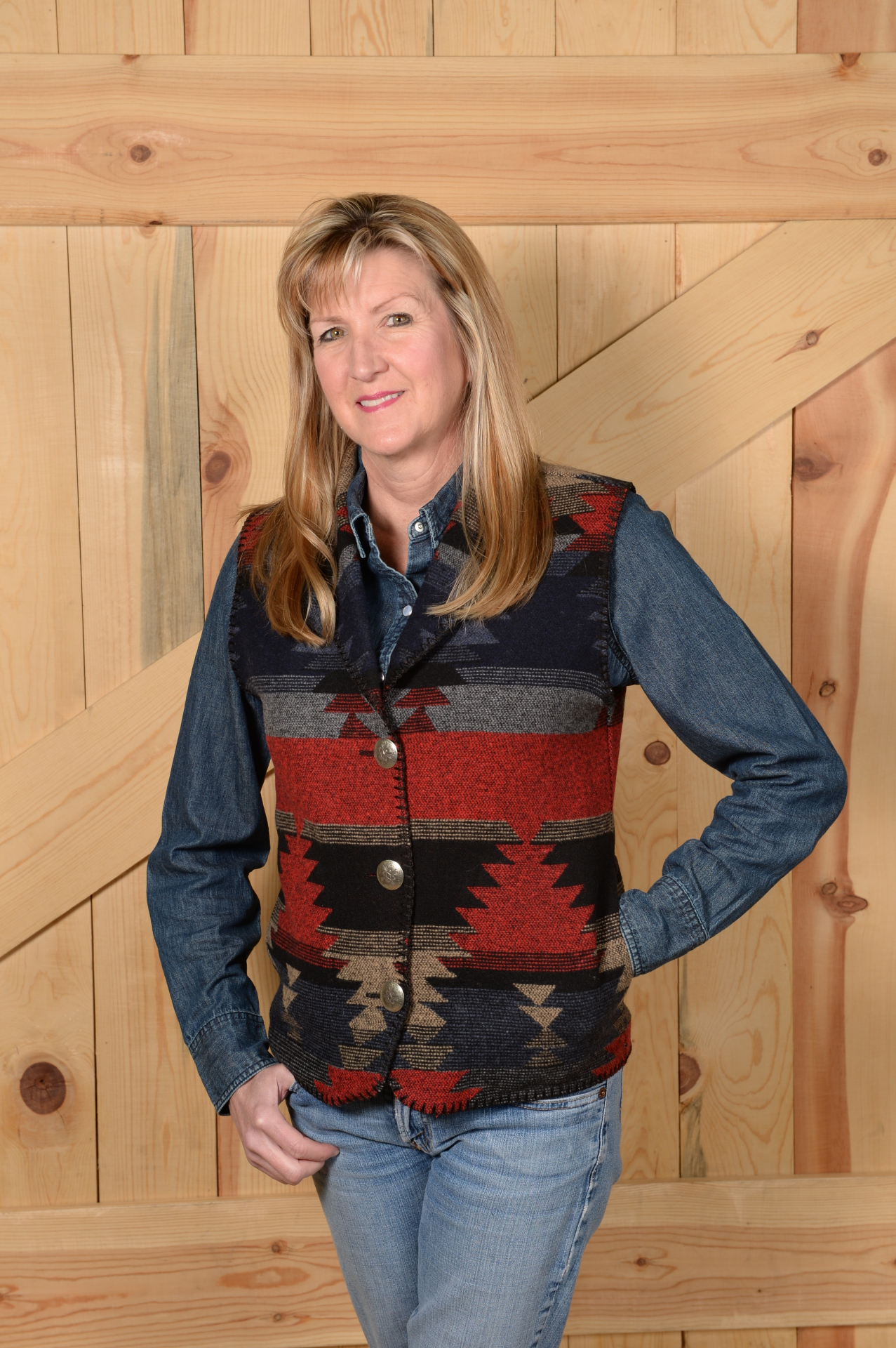 130NDS - NEW DESPERADO LONG SHAWL VEST          $99.95