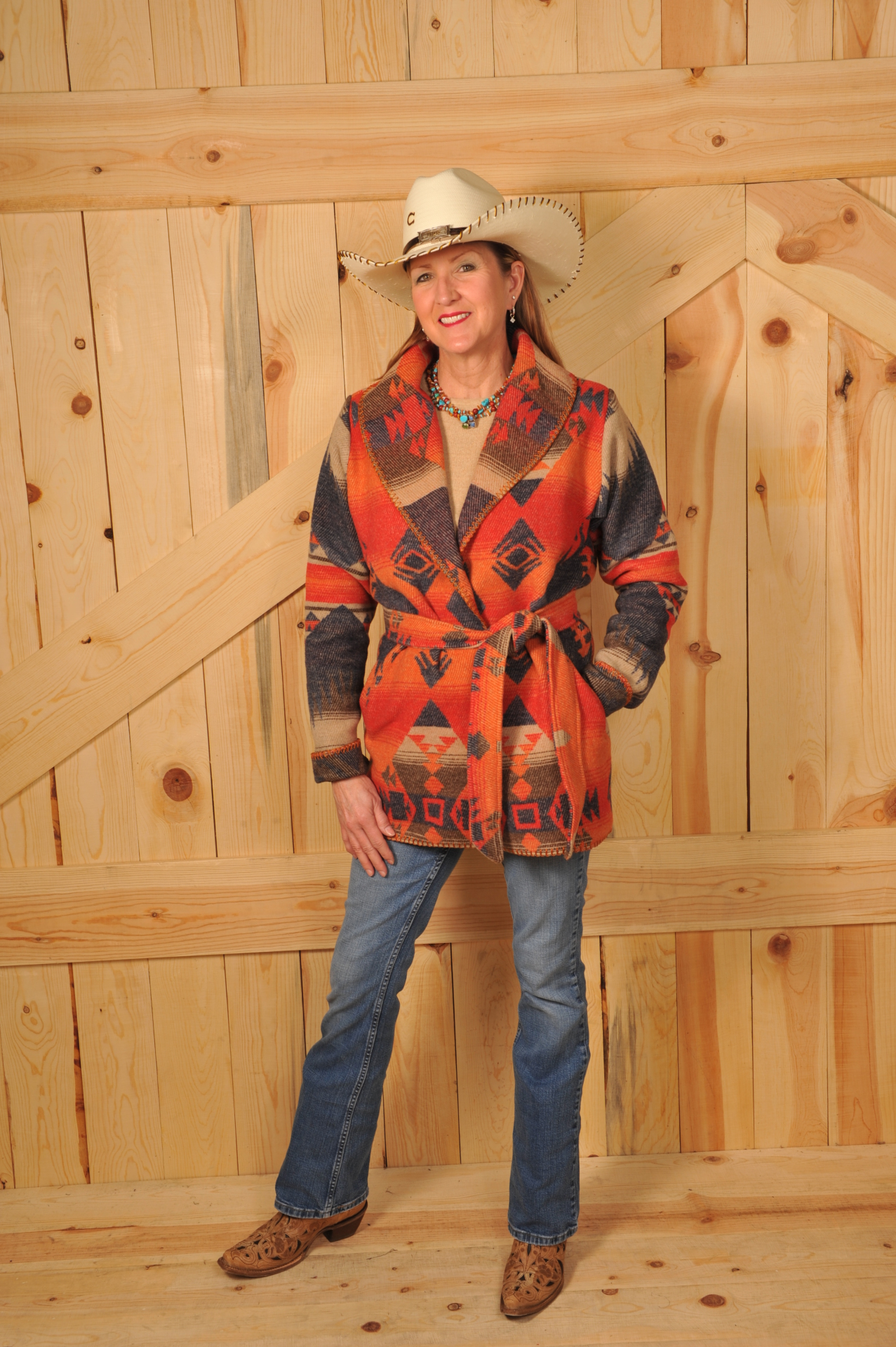 #865TN - TONTO WRAP COAT -- $209.95