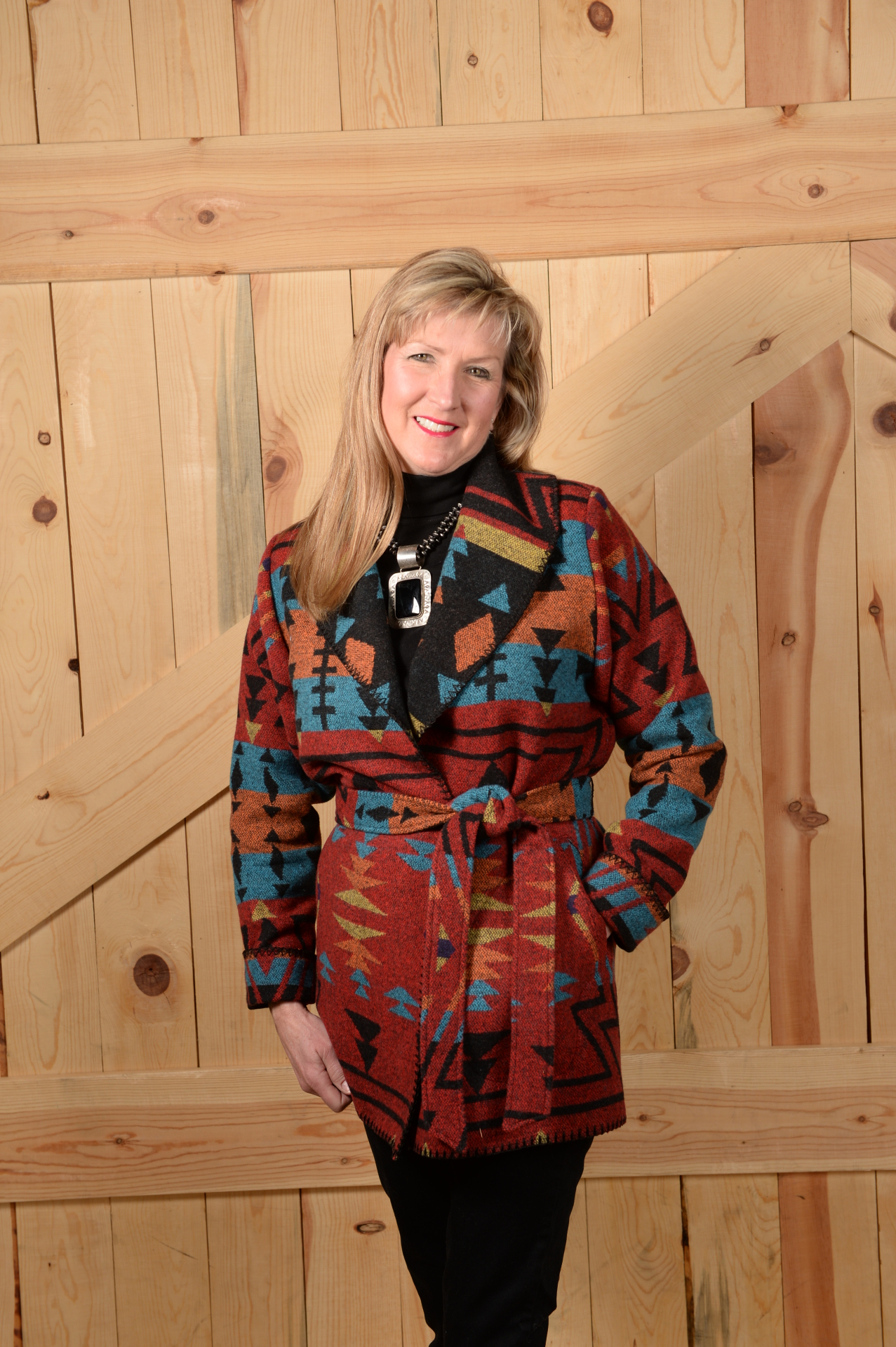865ZR - RED ZUNI WRAP COAT --  $209.95