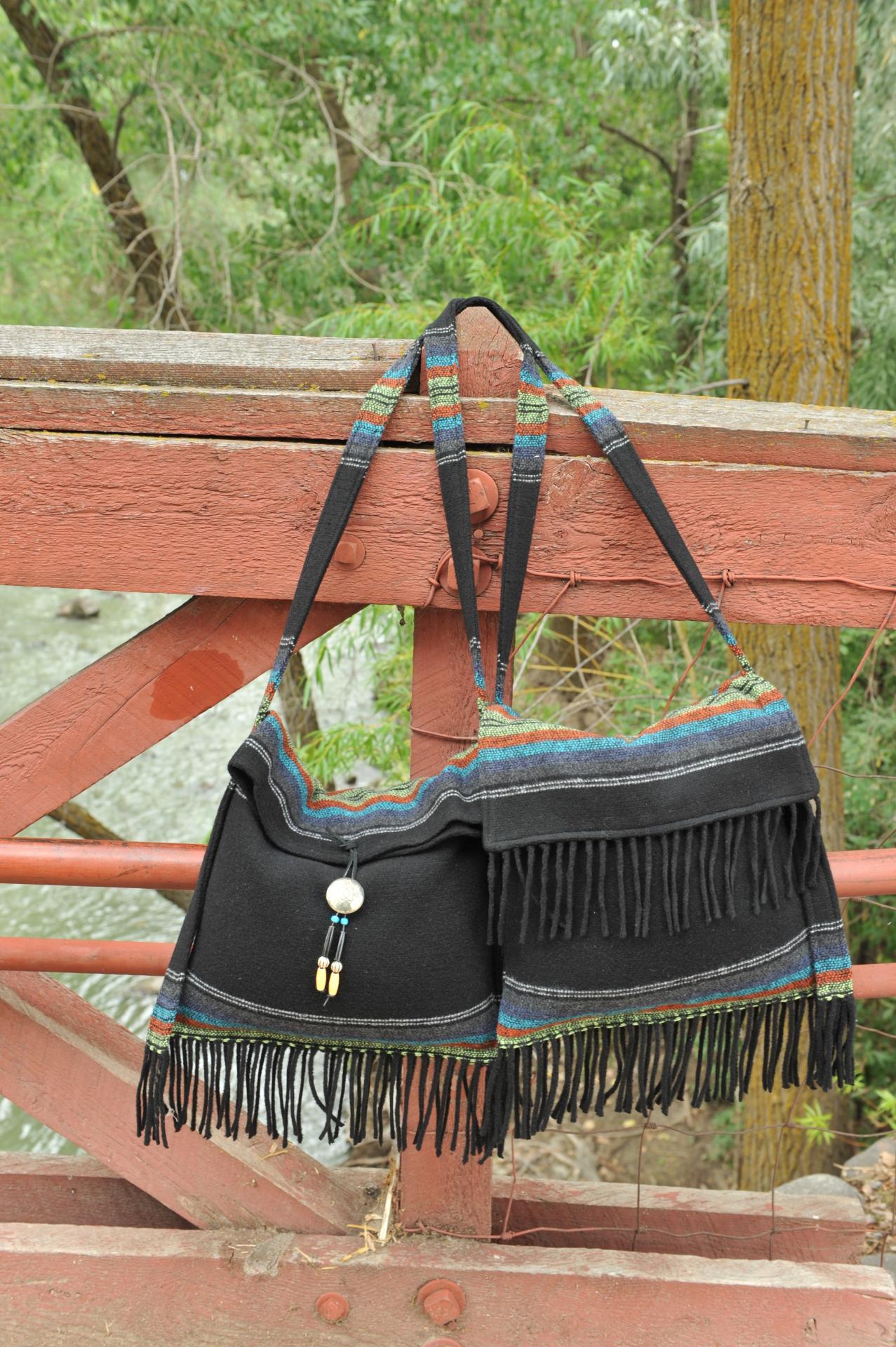 B01 - B02 PBF - BLACK PADRE FRINGE BAGS - $89.95