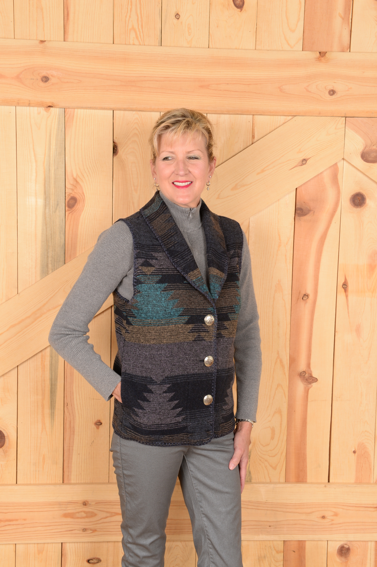 #130TW - TWILIGHT SHAWL COLLAR VEST -- WAS $99.95 - SALE $49.98 -- SMALL ONLY!