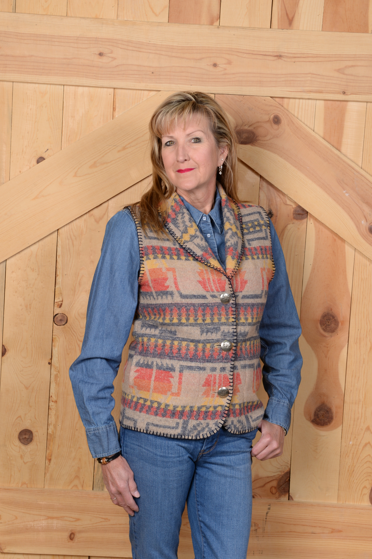 #130IC - INDIAN CHIEF SHAWL VEST - $99.95                    SALE $49.95 -- S-L-XL-2X