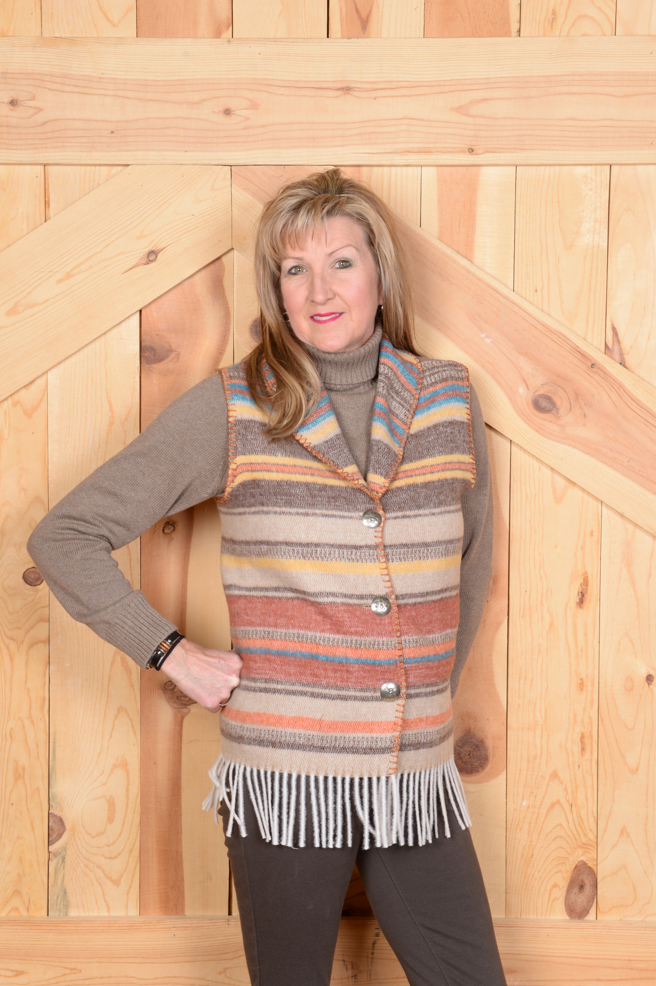 #131ARF - ARAPAHOE FRINGE SHAWL COLLAR VEST - WAS $84.95 -- SALE $42.48 -- ALL SIZES AVAILABLE!