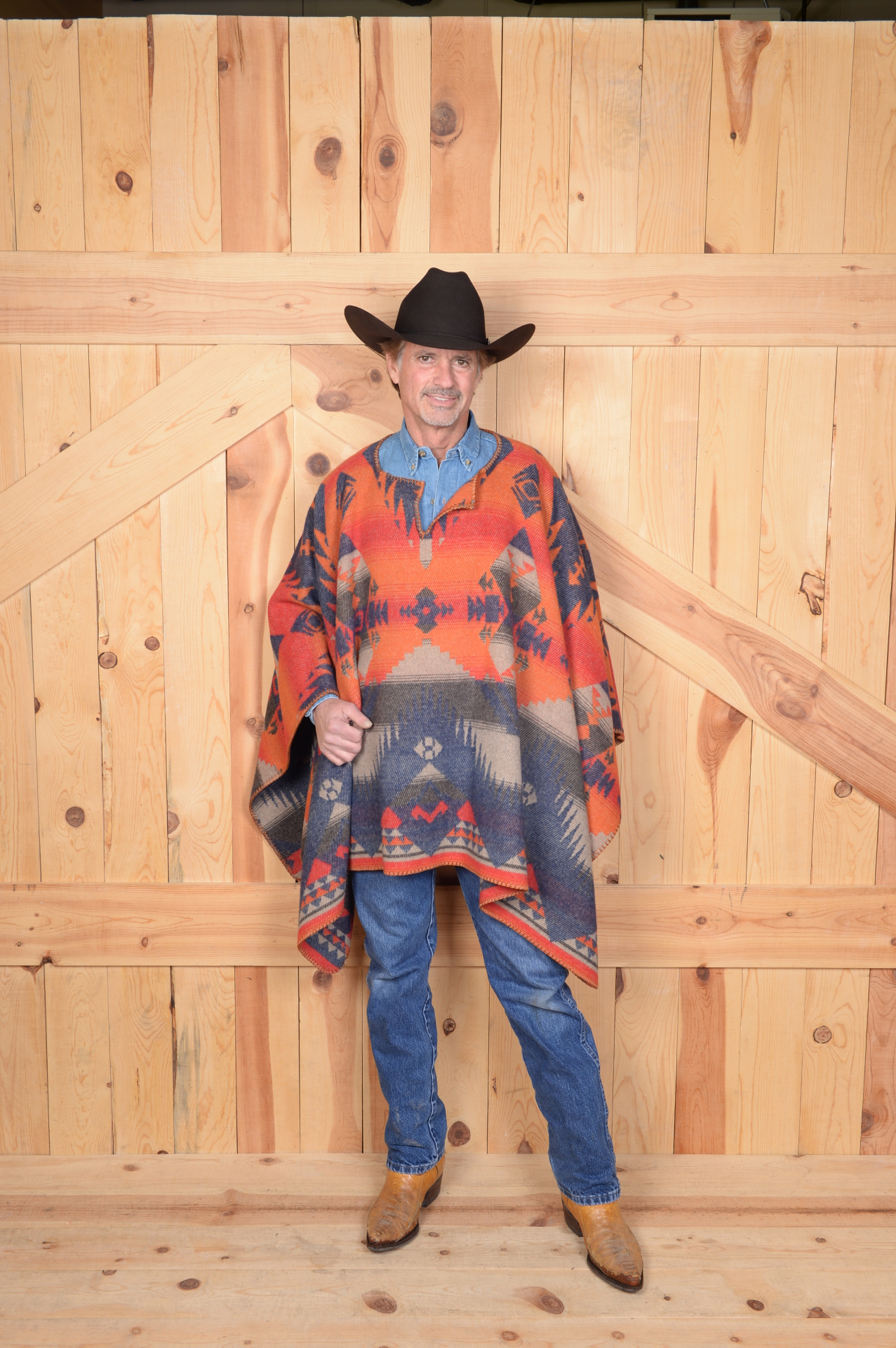 "201TN - Tonto Blanket Stitch 34"" Poncho - One Size - $119.95 - Front"