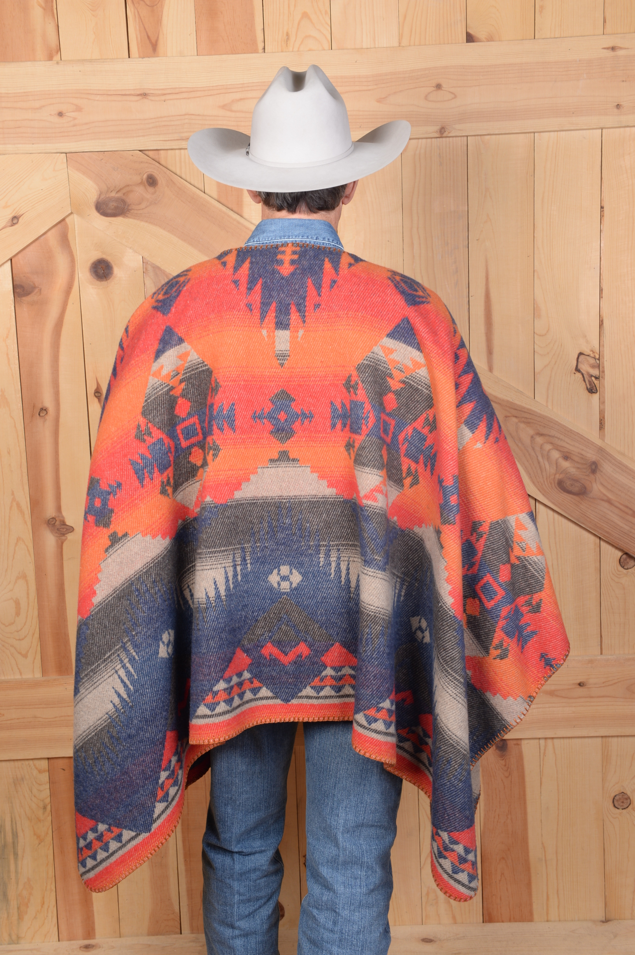 "201TN - Tonto Blanket Stitch 34"" Poncho - One Size - $119.95 - Back"