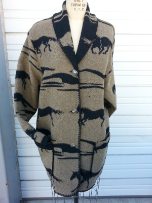 #875MU2 - TAUPE/BLK MUSTANG CAR COAT - $179.95 -- OUTLET SALE $50!  SMALL ONLY